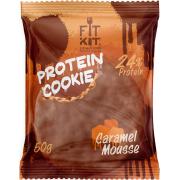 Протеиновое печенье от FitKit Protein chocolate сookie (карамель) (50 гр)