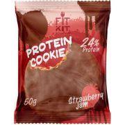 Протеиновое печенье от FitKit Protein chocolate сookie (клубника) (50 гр)