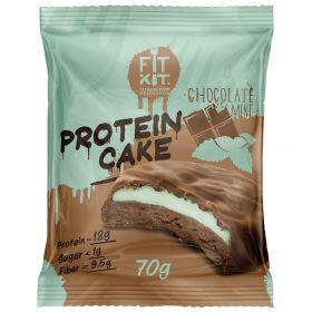 Протеиновое печенье с суфле от Fit Kit (шоколад с мятой) (70 гр.)