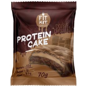 Протеиновое печенье с суфле от Fit Kit (двойной шоколад) (70 гр.)