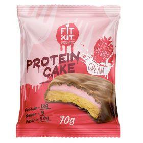 Протеиновое печенье с суфле от Fit Kit (клубника) (70 гр.)